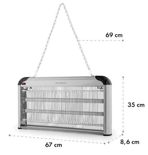 Elektrický lapač hmyzu s možností zavěšení na řetízek