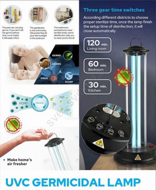 lampa pro zničení virů a bakterií
