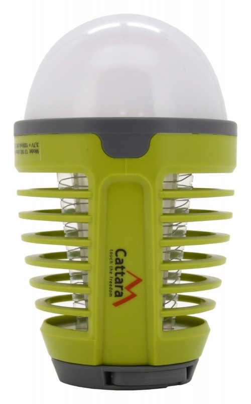 zelená voděodolná svítilna s lapačem na hmyz